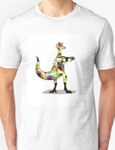Illustration of an Iguanodon photographer. T-Shirt