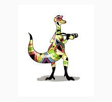 Illustration of an Iguanodon photographer. Unisex T-Shirt