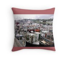 Traffic Jam - Greencastle Co. Donegal Ireland Throw Pillow