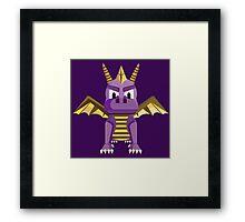Spyro vector character fanart Framed Print