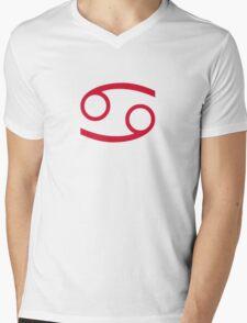Star sign Cancer Mens V-Neck T-Shirt