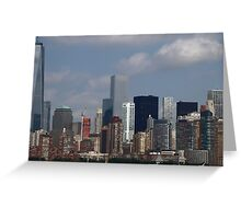 Colours of Lower Manhattan New York Greeting Card