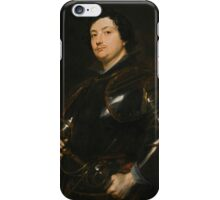 Sir Anthony van Dyck PORTRAIT OF A MAN, SAID TO BE RAPHAEL RAGGIO, HALF-LENGTH IN ARMOUR iPhone Case/Skin