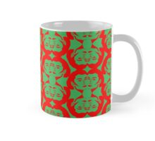 Audrey Red Green Pattern Mug