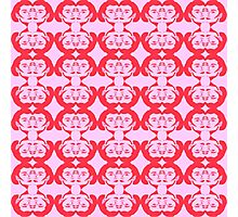 Audrey Red Pink Pattern Photographic Print