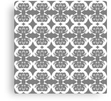 Audrey Grey Anthracite White Pattern Canvas Print