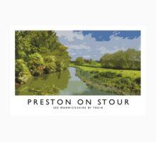 Preston on Stour (Railway Poster) One Piece - Short Sleeve