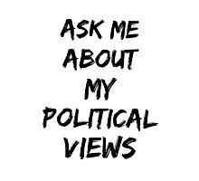 Political views Photographic Print