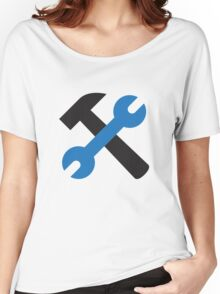Wrench and hammer icon Women's Relaxed Fit T-Shirt