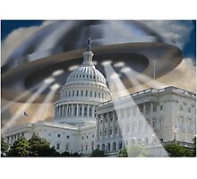 UFO Over Capital Photographic Print