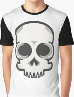 Friendly Vector Skelly Head Graphic T-Shirt