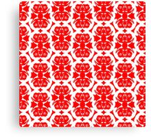 Audrey Ruby Red White Pattern Canvas Print