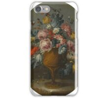The Pseudo-Guardi A PAIR OF STILL LIFES OF ROSES, AMENONES, TULIPS AND OTHER FLOWERS IN BRONZE URNS, RESTING ON STONE LEDGES iPhone Case/Skin