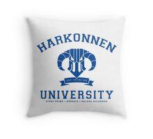 Harkonnen University   Blue Throw Pillow