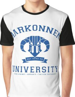 Harkonnen University | Blue Graphic T-Shirt