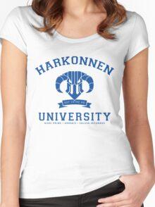 Harkonnen University | Blue Women's Fitted Scoop T-Shirt