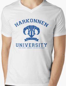 Harkonnen University | Blue Mens V-Neck T-Shirt