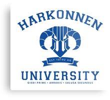 Harkonnen University | Blue Metal Print