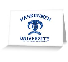Harkonnen University | Blue Greeting Card
