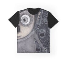 Allen Kazam Fleeing from Angry Sea Monsters Graphic T-Shirt
