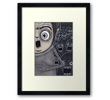 Allen Kazam Fleeing from Angry Sea Monsters Framed Print