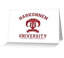 Harkonnen University | Red Greeting Card