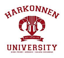 Harkonnen University | Red Photographic Print
