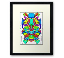 Colorful Abstract Symmetrical Curves  Framed Print