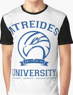 Atreides University | Blue Graphic T-Shirt