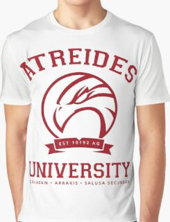 Atreides University | Red Graphic T-Shirt