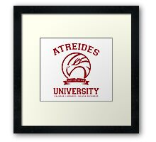 Atreides University | Red Framed Print
