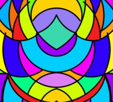 Colorful Abstract Symmetrical Curves - The Bearded Rabbit Sticker
