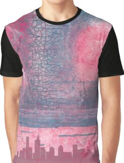 Town and the storm, pink, gray, blue Graphic T-Shirt