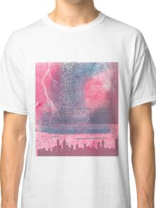 Town and the storm, pink, gray, blue Classic T-Shirt