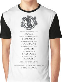 Gray Jedi  Graphic T-Shirt