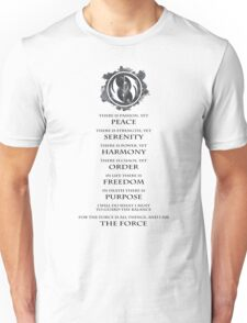 Gray Jedi  Unisex T-Shirt