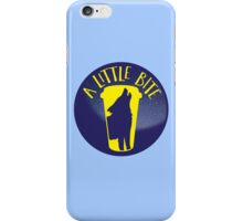 A little bite (3) with werewolf on a circle iPhone Case/Skin