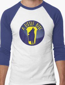 A little bite (3) with werewolf on a circle Men's Baseball ¾ T-Shirt