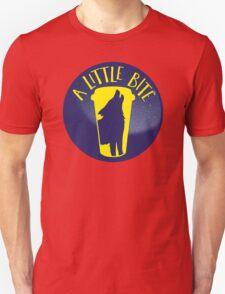 A little bite (3) with werewolf on a circle Unisex T-Shirt