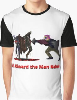 All Aboard the Man Kebab Graphic T-Shirt