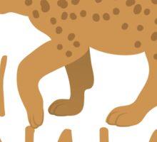 Crazy Hyena Lady Sticker