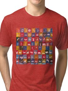 Life in the squares, colors, animals, planes, spaceships, ships Tri-blend T-Shirt