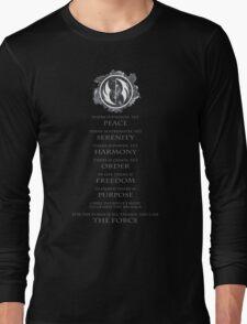 Gray Jedi Gray Lettering  Long Sleeve T-Shirt
