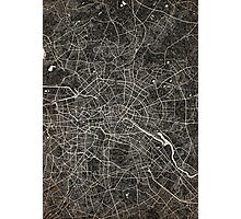Berlin map ink lines 2 Photographic Print