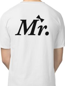 Mr and Mrs MISTER Honeymoon Bow Tie Classic T-Shirt