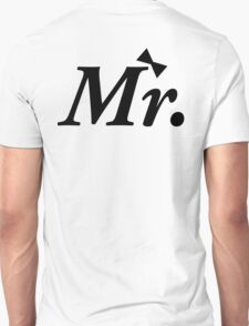 Mr and Mrs MISTER Honeymoon Bow Tie T-Shirt