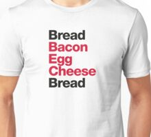 Recipe for a BEC Sandwich Unisex T-Shirt