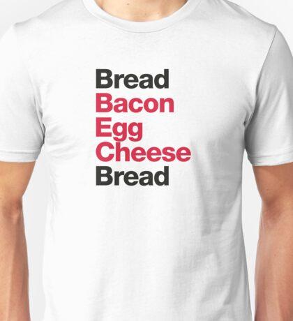 Recipe for a BEC Sandwich Unisex T-Shirt