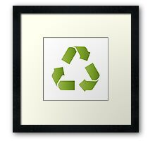 RECYCLE SYMBOL Framed Print