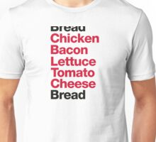 Recipe for a club sandwich Unisex T-Shirt